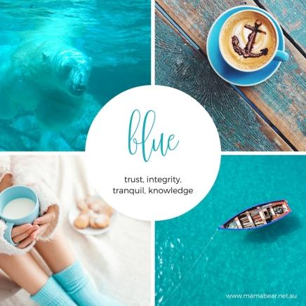 Blue colour palette