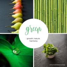 Green colour palette