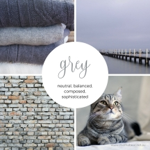 Grey colour palette