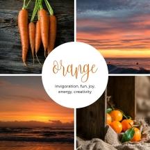Orange colour palette