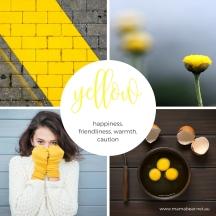 Yellow colour palette